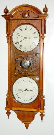 251: Walnut Seth Thomas Office Calendar No. 10 Clock