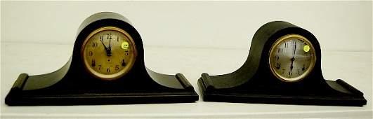 390 2 Seth Thomas Mahogany Tambour Mantle Clocks