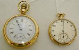 325W: 2 Elgin Pocket Watches: 17J 16S & 17J 14S