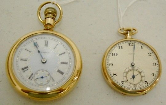 2 Elgin Pocket Watches: 17J 16S & 17J 14S