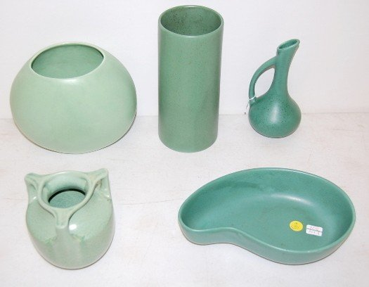 3: 5 pieces of Matte Finish Haeger Art Pottery