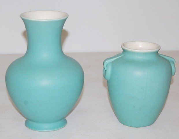 7: 2 Coors Colorado Art Pottery Vases