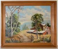 H.H. Smithers California Landscape Oil on Board,