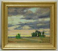 430 C Donnell Framed Landscape Oil on Board