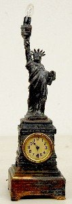 17: Statue of Liberty Clock/Electric Lamp