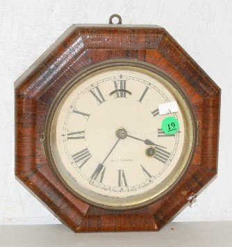 19: Seth Thomas 8 Day Octagon Rosewood Lever Clock