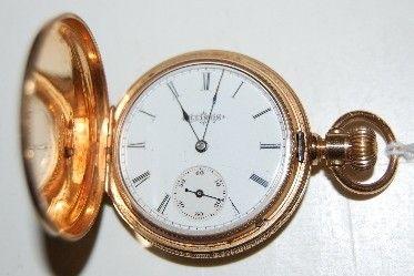 64: Illinois 14K SW LS HC Ladies Pocket Watch