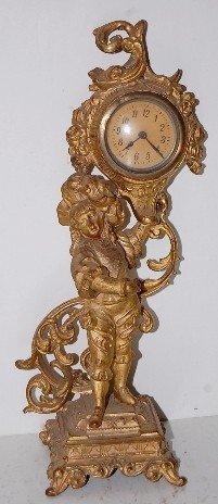 Metal Figural Novelty Clock
