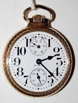"""16S 21J Elgin """"Father Time"""" Pocket Watch"""