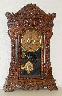 """Gilbert Oak  """"Steamer No. 46"""" Kitchen Clock"""
