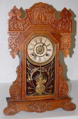 "1: Waterbury Oak ""Clayton"" Kitchen Clock"