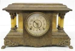 3: Seth Thomas Adamantine 4 Column Mantle Clock