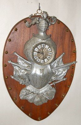 5: Knights Armor Hanging Antique Clock
