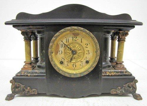 6: Seth Thomas Adamantine 4 Post Mantle Clock