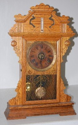 9: Seth Thomas Oak Kitchen Clock