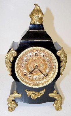 "13: Ansonia ""Calais"" Ornate Iron Case Clock"