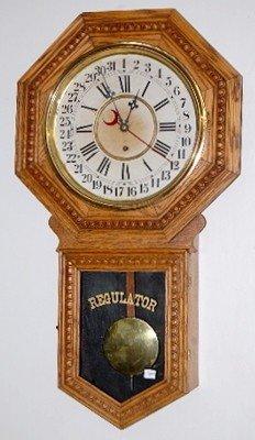 """19: Gilbert """"Consort"""" Calendar Schoolhouse Clock"""