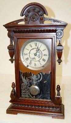 """23: Antique Seth Thomas """"Concord"""" Walnut Parlor Clock"""