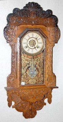 "28: Waterbury ""Havana"" Carved Hanging Kitchen Clock"