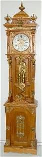 """172: Oak Ansonia """"Antique"""" Tall Case Clock"""