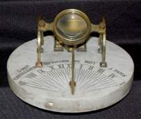 250A: French Noon Time Cannon Sundial Clock