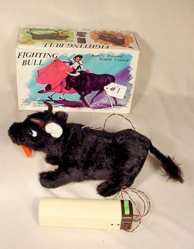 501: 1960's Fighting Bull Battery Operated Toy NR