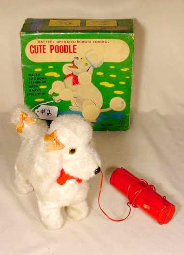 502: Cute Poodle 1950's Battery Operated NR