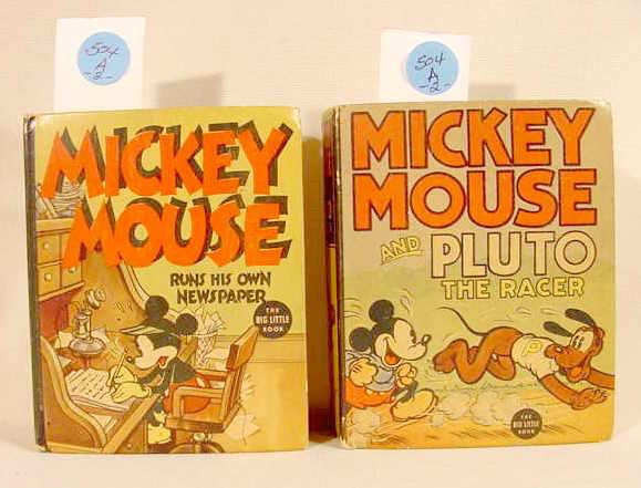 504A: 2 Mickey Mouse Big Little Books Whitman NR