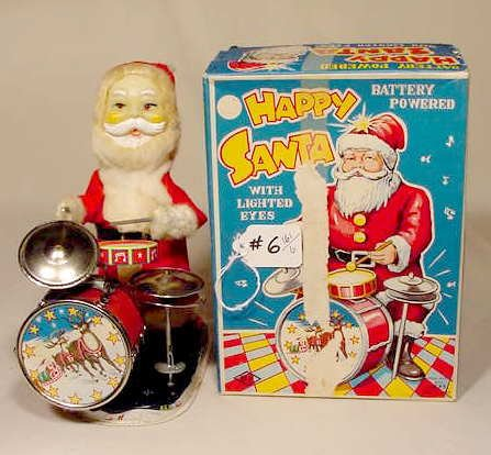 506: 1950 Battery Operated Happy Santa 6 Actions NR