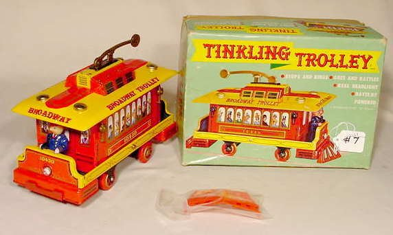 507: 1961 Battery Operated Tinklin' Trolley NR