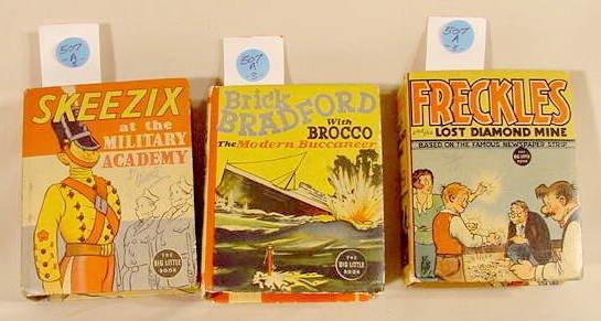 507A: 3 Whitman Big Little Books Skeezix, Bradford NR