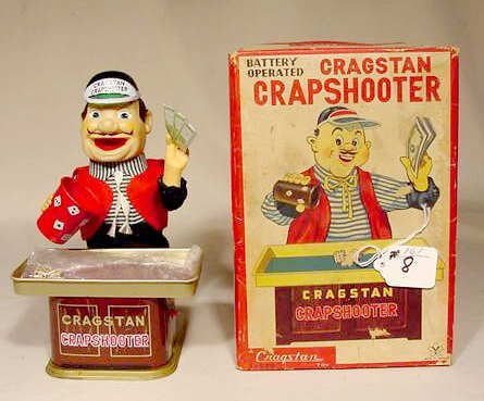 508: 1950's Battery Operated Cragston Crapshooter NR
