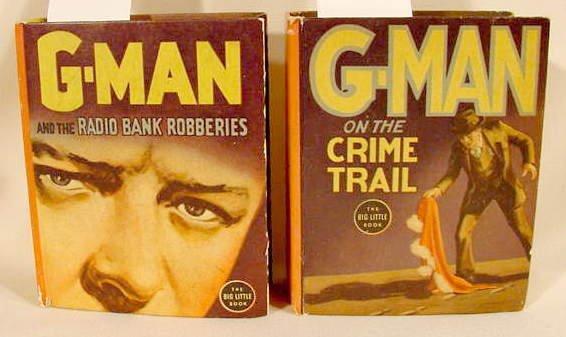 509A: 2 G-Man Whitman Big Little Books NR