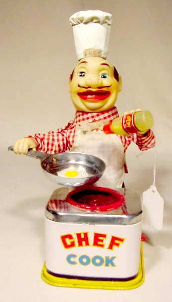 511: 1960's Battery Operated Chef Cook NR