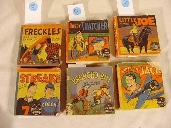 514A: 6 Whitman Top Line Comics Freckles & Friends NR