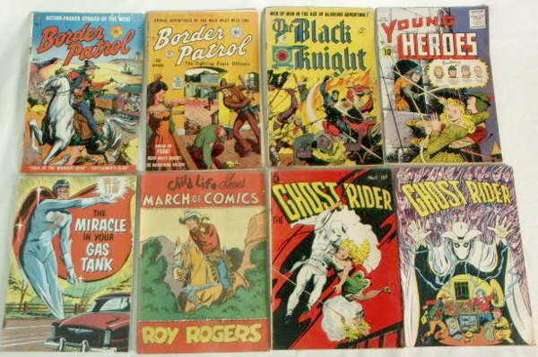 541A: 8 Early Comics: Ghost Rider, Black Knight etc NR