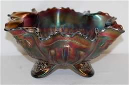 1 Amethyst Carnival Glass Sunflower Bowl