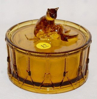 17: Portieux Cat on Drum Covered Dish