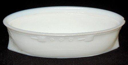 68A: Milk Glass Uncle Sam Battleship Covered Dish - 2