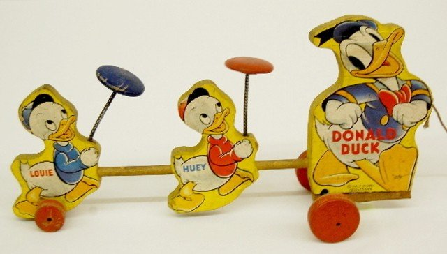 3: Fisher Price W.D. Ent. Donald Duck Pull Toy