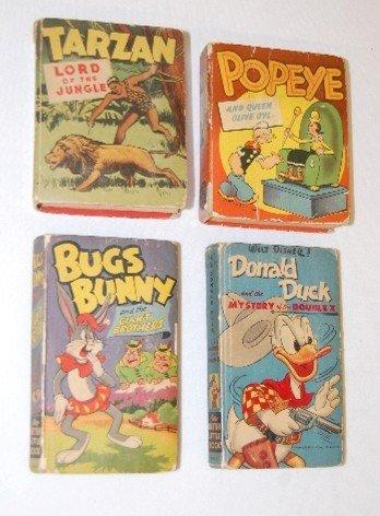 6A: 4 Better Little Books; Tarzan, Popeye +