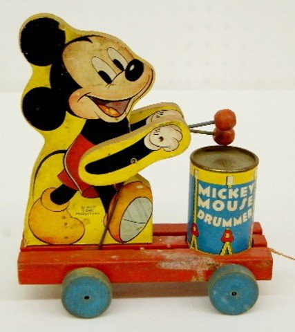 7: Fisher Price Mickey Mouse Drummer Pull Toy