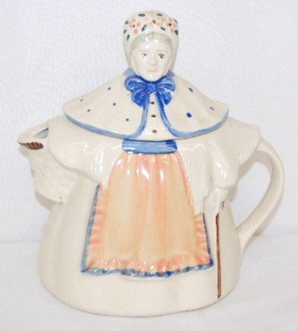 77: 2 Pottery Teapots & Chicken Pitcher - 2