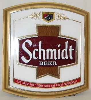 352: 2 Schmidt Beer Advertising Signs, Dog, Logo - 5