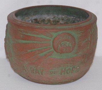 1A: Shriners Commemorative Clay Pot, 1872