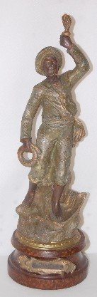 3A: Spelter Figure of a Seaman by Ruchet