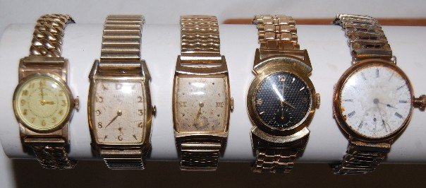 2: 5 Elgin Wrist Watches w/ Bands