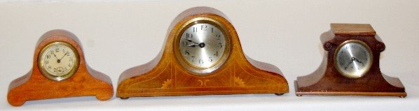 6A: Ansonia and U.S.A. Wooden Mantel Clocks