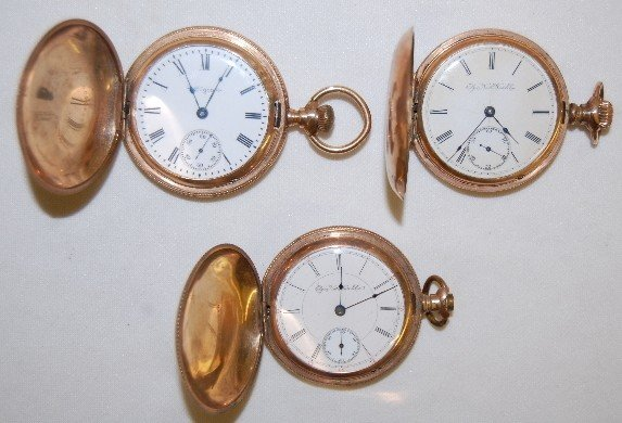 7: 3 Elgin 18S Hunting Case Pocket Watches