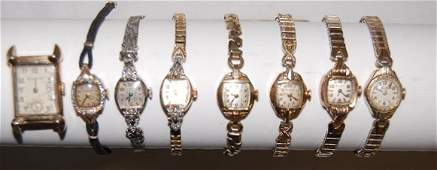 9 8 Bulova Ladies Wrist Watches Stem Wound